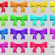 Colorful ribbon bows — Imagen vectorial