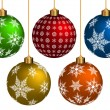 Stock Vector: Colorful Chrismas Ball