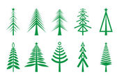 Christmas trees icon — Stock Vector