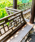 Bench in the Chinese Pavilion — Stockfoto