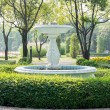 Road in public park lead to fountain — Stock Photo #37318075