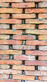 Old red brick wall background — Stok fotoğraf