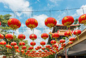Chinese Paper Lanterns against a Blue Sky — Stock Photo