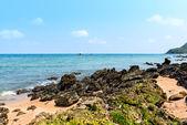 Rock on the beach at samaesan beach — Stock Photo