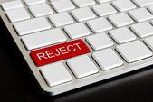 """""""拒绝""""在电脑键盘上的按钮 — 图库照片"""