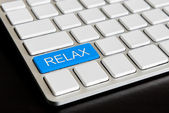 """ relax "" Button on Computer Keyboard — Foto de Stock"