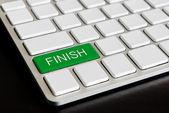 """ finish "" Button on Computer Keyboard — Stock Photo"