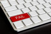 """ fail "" Button on Computer Keyboard — Stock Photo"