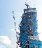Budowy z żurawie — Zdjęcie stockowe