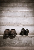 Man and women shoes — Stock fotografie
