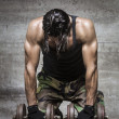 Tired muscle athlete — Stock Photo #31535365