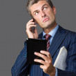 Uncertain businessman — Stock Photo