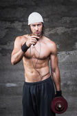 Attractive young bodybuilder — Stock Photo