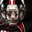 Stock Photo: Portrait of american football player