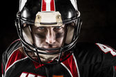 Portrait of american football player — Stock Photo