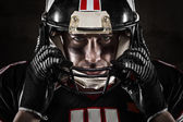 Portrait of american football player — Stock fotografie