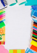 Set of necessary office supply for school or office — Stock Photo
