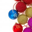 Stock Photo: Christmas decoration isolated on white, background