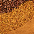 Various texture of coffee — Stock Photo