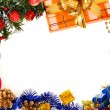 New Year's frame isolated on white, background — Стоковая фотография