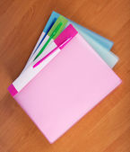 Folders for documents on a table — Stock Photo