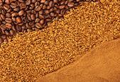 Kahve çeşitli doku — Stok fotoğraf