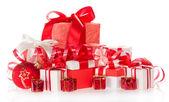 рождественские подарки, игрушки, мишура — Стоковое фото