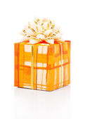Bright gift isolated on white — Stock Photo