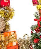 Christmas frame, background — Stock Photo