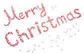 Red inscription Merry Christmas isolated on white — Stock Photo