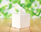 White box with napkins — Stock Photo