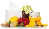 Anticatarrhal środki i serwetki — Zdjęcie stockowe