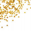 Golden confetti — Stock Photo