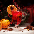 Close up glass of mulled wine — Stock Photo