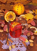 Glass of mulled wine — Stock Photo