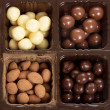Box with different round candies — Stock Photo #44819819