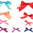 Set of colorful gift bows with ribbons — Stock Photo #45654633