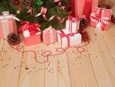 Gift boxes, Christmas toys — Stockfoto