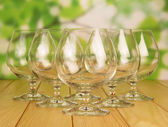 Empty brandy glasses — Stock Photo
