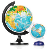 Two Terrestrial globes — Foto Stock