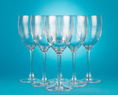 Empty wineglasses — Stock Photo