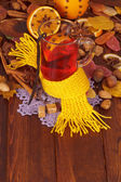 Christmas drink mulled wine with spices — Stock Photo