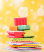 Sponges for washing dishes — Stock Photo