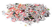 Background with letters from newspapers — Stock Photo