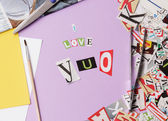 I love you - ransom note style — Stock Photo