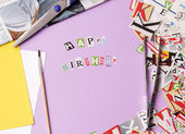 Happy bithday - ransom note style — Stock Photo