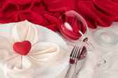 Valentine Day table setting — Stock Photo