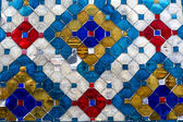 Stained glass wall — Stock Photo