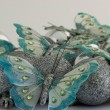 Butterflies with Christmas Balls — Photo