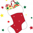 Christmas Stocking — Stock Vector